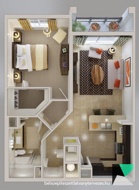 Graphical floor plan visualization