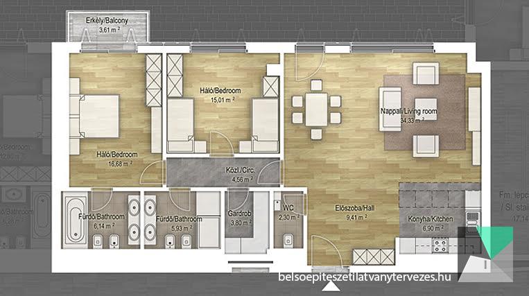 Architectural floor plan visualization
